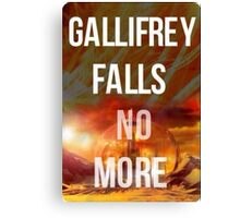 Doctor who Gallifrey falls no more Canvas Print