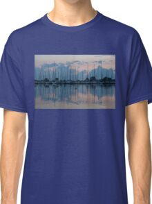 Pink and Blue Peace - Still Sailboat Reflections  Classic T-Shirt