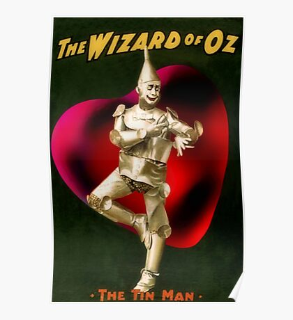 Tin Man With Heart Poster