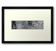 Water patterns Framed Print