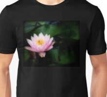 Pink Water Lily Glowing Unisex T-Shirt