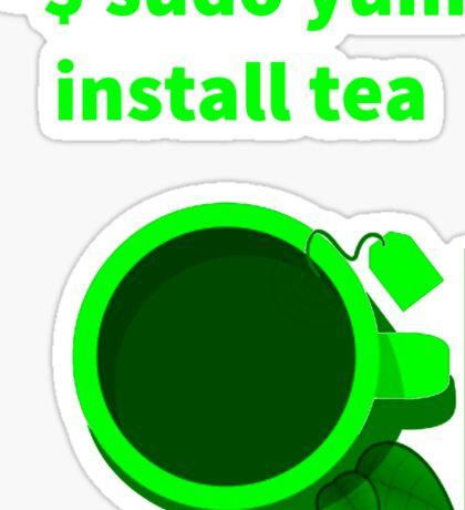 Linux sudo yum install tea Sticker