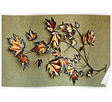 HDR Wall Decoration Metallic leaves Poster