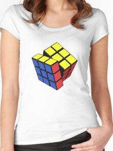 Rubik's cube stuff 3 Women's Fitted Scoop T-Shirt