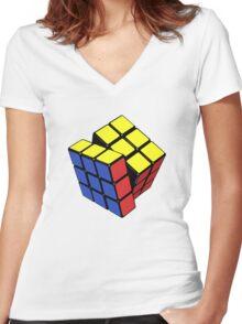 Rubik's cube stuff 3 Women's Fitted V-Neck T-Shirt