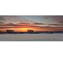 Winter Sunrise Photographic Print