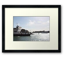 Boat In The Afternoon Framed Print