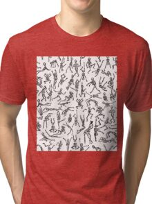 Spooky Scary Skeletons Tri-blend T-Shirt