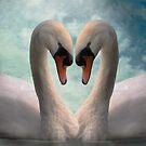Swan Lovers by Carol Bleasdale