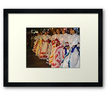 Traditional Coloured Costumes - Tradicional Trajes De Colores Framed Print