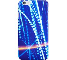 Christmas Lights - Blue/Orange #1 iPhone Case/Skin