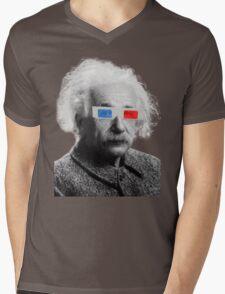 Einstein - 3D Mens V-Neck T-Shirt