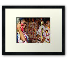 Colours And Costumes Of Oaxaca - Colores Y Trajes De Oaxaca Framed Print