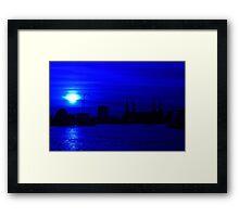 Battersea in Blue Framed Print