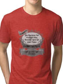 Faceless Old Woman Tri-blend T-Shirt