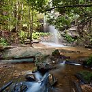 Adelina Falls, Lawson NSW by Malcolm Katon