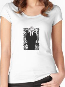 Anonymous revolution without blood ? 2 Women's Fitted Scoop T-Shirt