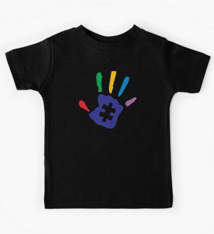 Colorful Autism Hand Kids Tee