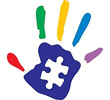 Colorful Autism Hand Photographic Print
