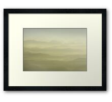Sunrise in Himalayas - Nepal. Framed Print