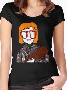log lady Women's Fitted Scoop T-Shirt