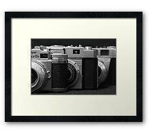 35mm. film trio Framed Print