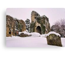 St Mary, Little Chart In The Snow Canvas Print