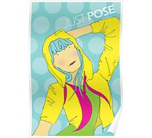 Girl Pose in Hoodie Poster