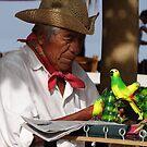 Seller Of Plastic Birds - Vendedor De Aves Plastico by Bernhard Matejka