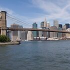 Brooklyn Bridge Panorama  by William  Donnelly