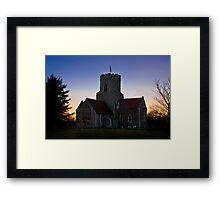 Pakenham church at sunset Framed Print