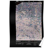 USGS Topo Map Washington State WA Carlsborg 20110502 TM Inverted Poster