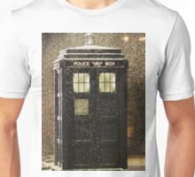 Doctor who snowy TARDIS Unisex T-Shirt