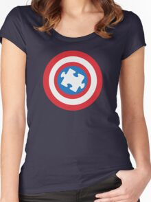 Captain Au-some Women's Fitted Scoop T-Shirt