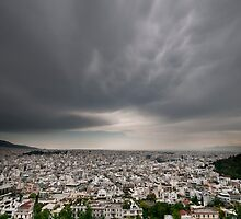 Athens Skyline by Rupert Sargeant