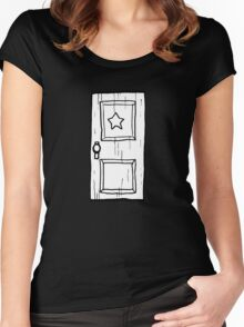 Scott Pilgrim vs The World // Subspace Door Women's Fitted Scoop T-Shirt