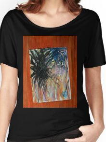 Painting stuck on a door Women's Relaxed Fit T-Shirt
