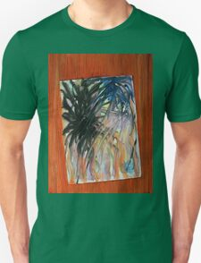 Painting stuck on a door Unisex T-Shirt
