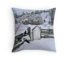 Winter's Gate Throw Pillow
