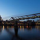 Reflecting on Bridges and Skylines - City of London, England, UK by Georgia Mizuleva