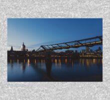 Reflecting on Bridges and Skylines - City of London, England, UK One Piece - Long Sleeve