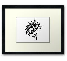 Eyes Bright, Hearts and Flowers Framed Print