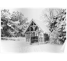 Lychgate St Nicholas Pluckley In The Snow Poster