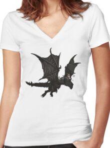 Alduin & AngelMJ Women's Fitted V-Neck T-Shirt