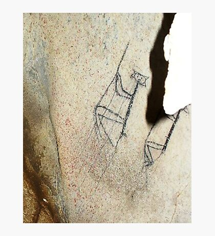 Rope Climbers-Hispanic Caribbean Taino Indian Caves Paintings Photographic Print