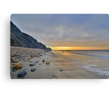 Dorset: Empty Sands at Charmouth Canvas Print