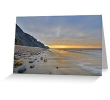 Dorset: Empty Sands at Charmouth Greeting Card