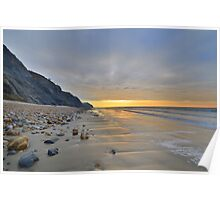 Dorset: Empty Sands at Charmouth Poster