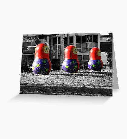 Russian Dolls Greeting Card