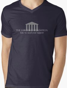 The Sarcasm Foundation - White Mens V-Neck T-Shirt